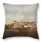 East Side Of Calahorra Throw Pillow