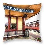 East Strasburg Station Throw Pillow