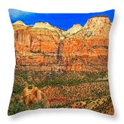 East Temple Throw Pillow
