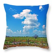 East Texas View Throw Pillow