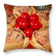 Easter And  Flaounes Throw Pillow
