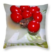 Easter And Sparrow Throw Pillow