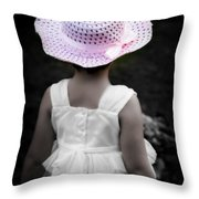 Easter Angel Throw Pillow