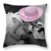 Easter Angel Two Throw Pillow