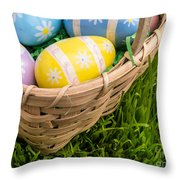 Easter Basket Throw Pillow by Edward Fielding