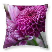 Easter Bouquet Flowers Mums And Dahlia Throw Pillow