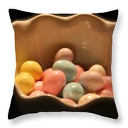 Easter Candy Malted Milk Balls I Throw Pillow