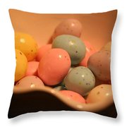 Easter Candy Malted Milk Balls II Throw Pillow