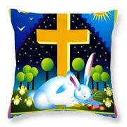 Easter Card Throw Pillow