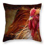 Easter Cock Throw Pillow