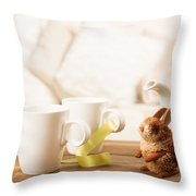 Easter Drinks Throw Pillow
