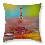 Easter Drop Water  Throw Pillow