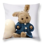 Easter Egg And Bunny Throw Pillow