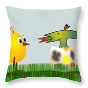 Easter Egg - Disagreeable Surprise Throw Pillow