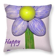 Easter Egg Flower Throw Pillow