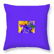 Easter Flowers Throw Pillow