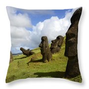 Easter Island 1 Throw Pillow
