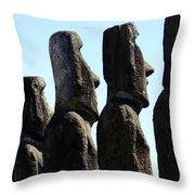 Easter Island 11 Throw Pillow