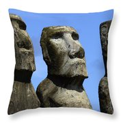 Easter Island 16 Throw Pillow
