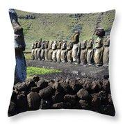 Easter Island 4 Throw Pillow