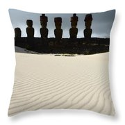 Easter Island 9 Throw Pillow