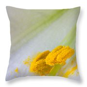 Easter Lily Macro Throw Pillow