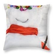 Easter Snowman Throw Pillow