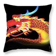 Eastern Dragon Throw Pillow