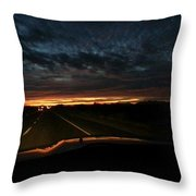 Eastern Drive  Throw Pillow