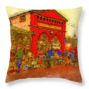 Eastern Market Throw Pillow