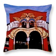 Eastern Market Painted Barn Throw Pillow