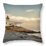 Eastern Point Lighthouse Throw Pillow