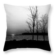 Eastern Shore Sunset Throw Pillow