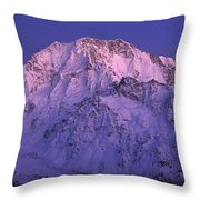 Eastern Side Of Mt Cook Pre-dawn Throw Pillow