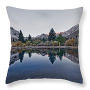 Eastern Sierras Reflection Throw Pillow
