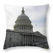 Eastern Site Of The Capitol Washington Dc Throw Pillow
