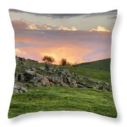 Eastern Skies At Sunset Throw Pillow