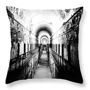 Eastern State Pen Hall Throw Pillow