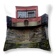 With One Eye Open Throw Pillow