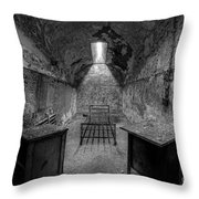 Eastern State Penitentiary Bw Throw Pillow