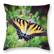 Eastern Tiger Swallowtail Throw Pillow