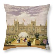 Eastern View Of The Castle And Garden Throw Pillow