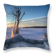 Eastern Wind Throw Pillow
