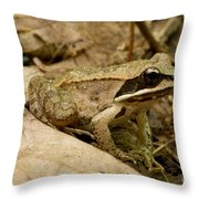 Eastern Wood Frog Throw Pillow