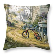 Easy Rider Throw Pillow by Michael Humphries