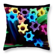 Eat-able Rainbow Throw Pillow