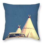 Eat And Sleep In A Wigwam Throw Pillow