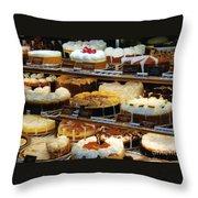 Eat Cake Throw Pillow