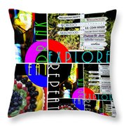 Eat Drink Explore Repeat 20140713 Vertical Throw Pillow