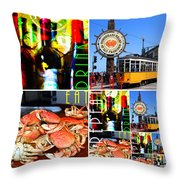 Eat Drink Play Repeat 20140713 San Francisco Throw Pillow
